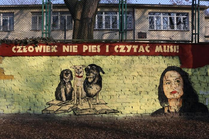 Mural BFF_Parys ifestiwalowe psy